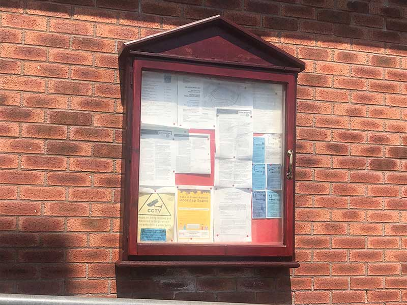 noticeboard for Catterall Parish Council
