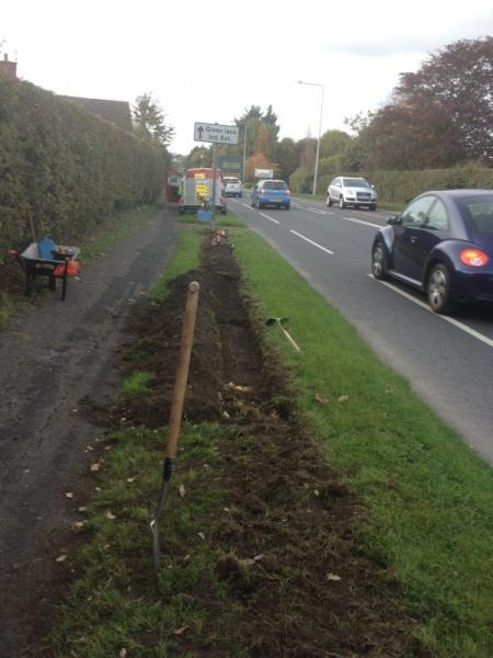 Bulb Planting on the A6 Verge -